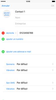 Apple iPhone 6s Plus - Contact, Appels, SMS/MMS - Ajouter un contact - Étape 10