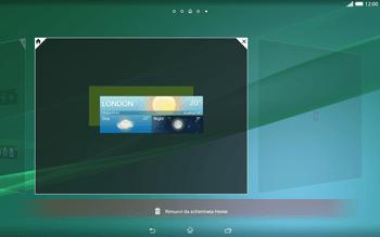 Sony Xperia Tablet Z2 LTE - Operazioni iniziali - Installazione di widget e applicazioni nella schermata iniziale - Fase 6