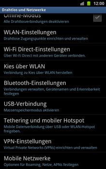 Samsung Galaxy Note - Netzwerk - Netzwerkeinstellungen ändern - 5 / 7