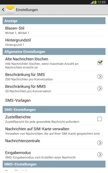 Samsung N5100 Galaxy Note 8-0 - SMS - Manuelle Konfiguration - Schritt 8