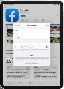 Apple iPad Mini 4 - ipados 13 - Apps - Einrichten des App Stores - Schritt 11