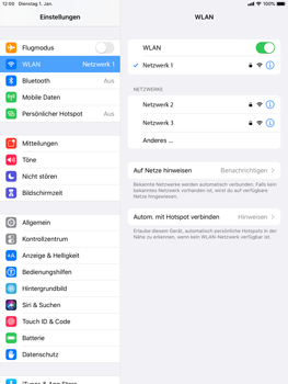 Apple iPad 9.7 (2018) - iPadOS 13 - WiFi - WiFi-Konfiguration - Schritt 7