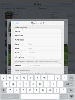 Apple iPad 4th generation (Retina) met iOS 7 - Applicaties - Account aanmaken - Stap 21