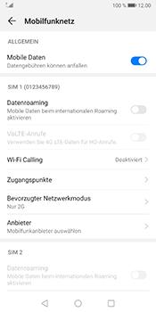 Huawei Mate 10 Pro - Android Pie - Netzwerk - Netzwerkeinstellungen ändern - Schritt 7