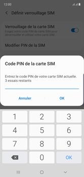Samsung Galaxy Note10 - Securité - Modifier le code PIN de la carte SIM - Étape 9