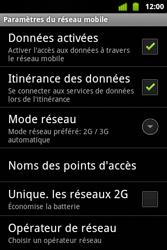 Alcatel OT-983 - Internet et roaming de données - Désactivation du roaming de données - Étape 6