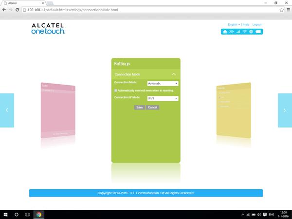 Alcatel MiFi Y900 - Internet and data roaming - disabling data roaming - Step 7