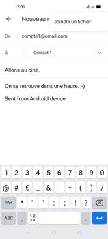 Oppo Reno 4 Pro - E-mails - Envoyer un e-mail - Étape 10