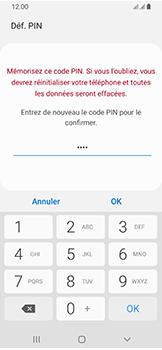 Samsung Galaxy A40 - Sécuriser votre mobile - Activer le code de verrouillage - Étape 10