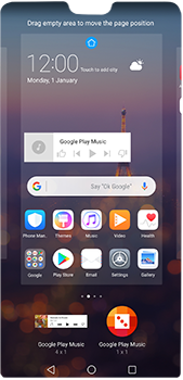 Huawei P20 Pro - Getting started - Installing widgets and applications on your start screen - Step 9