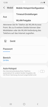 Samsung Galaxy Note 20 5G - WiFi - So aktivieren Sie einen WLAN-Hotspot - Schritt 8