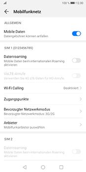 Huawei Mate 10 Pro - Android Pie - Netzwerk - So aktivieren Sie eine 4G-Verbindung - Schritt 5