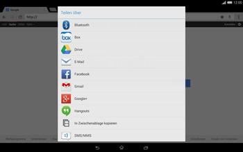 Sony Xperia Tablet Z2 LTE - Internet und Datenroaming - Verwenden des Internets - Schritt 17