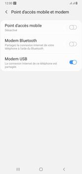 Samsung Galaxy A10 - Internet et connexion - Utiliser le mode modem par USB - Étape 8