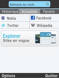 Nokia 301-1 - Internet - Navigation sur Internet - Étape 4