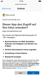 Apple iPhone 7 - iOS 12 - E-Mail - Konto einrichten (outlook) - Schritt 8