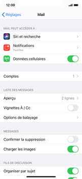 Apple iPhone 11 Pro - iOS 14 - E-mail - 032c. Email wizard - Outlook - Étape 9