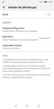 Huawei Mate 10 Pro - Android Pie - WiFi - So aktivieren Sie einen WLAN-Hotspot - Schritt 13
