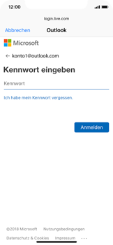 Apple iPhone X - E-Mail - Konto einrichten (outlook) - 7 / 12
