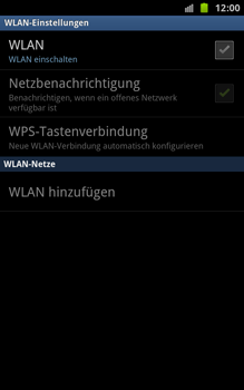 Samsung N7000 Galaxy Note - WLAN - Manuelle Konfiguration - Schritt 6