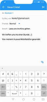 Huawei Honor Play - E-Mail - E-Mail versenden - 10 / 18