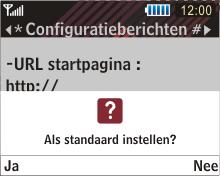 Samsung B3210 Corby TXT - internet - automatisch instellen - stap 5