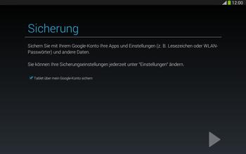 Samsung Galaxy Tab 3 10-1 LTE - Apps - Konto anlegen und einrichten - 23 / 25