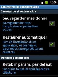 Samsung Galaxy Y - Téléphone mobile - Réinitialisation de la configuration d