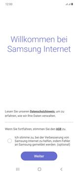 Samsung Galaxy Note 20 5G - Internet und Datenroaming - Verwenden des Internets - Schritt 5