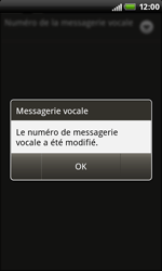 HTC S510b Rhyme - Messagerie vocale - Configuration manuelle - Étape 8