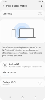 Samsung Galaxy A80 - Internet et connexion - Partager votre connexion en Wi-Fi - Étape 12