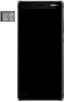 Nokia 5.1 - Appareil - comment insérer une carte SIM - Étape 3