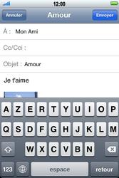 Apple iPhone 4 S - E-mail - envoyer un e-mail - Étape 8