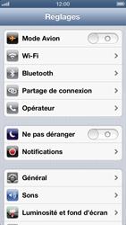 Apple iPhone 5 - Réseau - sélection manuelle du réseau - Étape 5