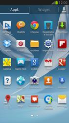Samsung Galaxy Note II - Operazioni iniziali - Installazione di widget e applicazioni nella schermata iniziale - Fase 4