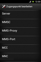 Sony Xperia Miro - MMS - Manuelle Konfiguration - Schritt 12