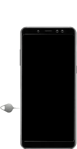 Samsung Galaxy A8 - Premiers pas - Insérer la carte SIM - Étape 2