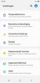 Samsung galaxy-a6-sm-a600fn-ds-android-pie - Instellingen aanpassen - Back-up maken in je account - Stap 4