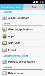 Huawei Ascend Y330 - Messagerie vocale - configuration manuelle - Étape 5