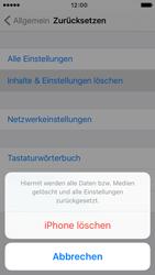 Apple iPhone 5 iOS 9 - Gerät - Zurücksetzen auf die Werkseinstellungen - Schritt 6