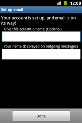 Samsung S7500 Galaxy Ace Plus - E-mail - Manual configuration - Step 16