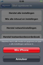 Apple iPhone 4S met iOS 5 (Model A1387) - Probleem oplossen - Toestel resetten - Stap 6