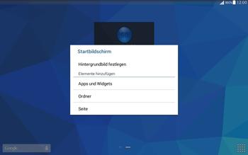 Samsung T535 Galaxy Tab 4 10.1 - Startanleitung - Installieren von Widgets und Apps auf der Startseite - Schritt 4