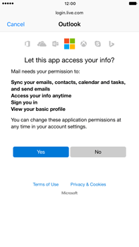 Apple Apple iPhone 6 Plus iOS 10 - E-mail - Manual configuration (outlook) - Step 7