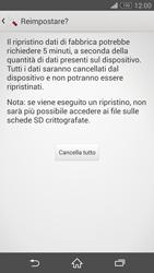Sony Xperia Z3 Compact - Dispositivo - Ripristino delle impostazioni originali - Fase 8