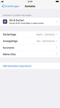 Apple iPhone 6 Plus - Kontakte - Kontakte von der SIM auf das Telefon importieren - 0 / 0