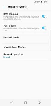 Samsung Galaxy S8 - Internet and data roaming - Disabling data roaming - Step 6