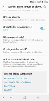 Samsung Galaxy A6 - Sécuriser votre mobile - Personnaliser le code PIN de votre carte SIM - Étape 5