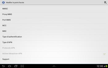 Samsung Galaxy Tab 2 10.1 - Internet et roaming de données - Configuration manuelle - Étape 14