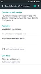 HTC U Play - Internet et connexion - Partager votre connexion en Wi-Fi - Étape 16